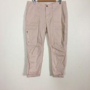 White House Black Market Light Pink Capri Pants